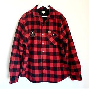 NWT Matix Buffalo Plaid Sherpa Lined  Shirt Jacket